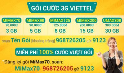 Đăng ký 3G Viettel