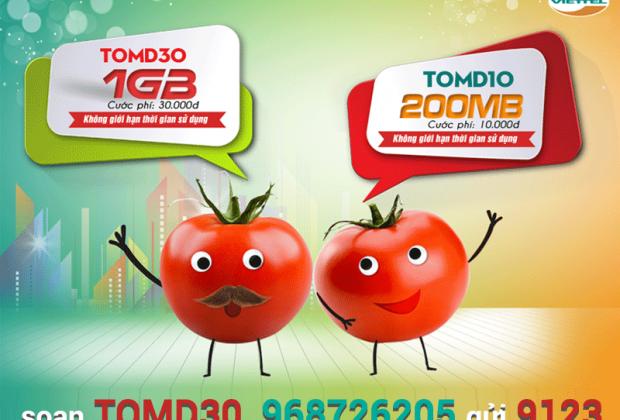 TOMD30 Viettel miễn phí 1GB