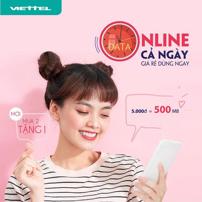 đăng ký 3G Viettel ngày