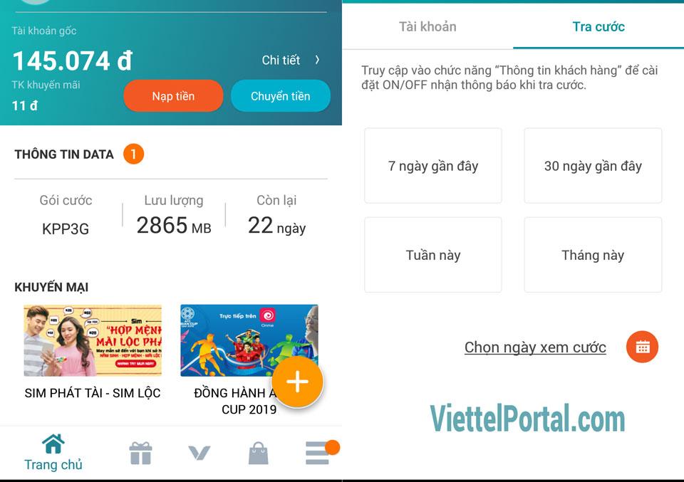 Kiểm tra tài khoản Viettel