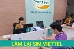 Làm lại sim Viettel