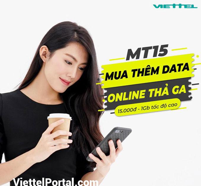 mua thêm dung lượng 4G Viettel