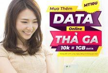 Mua thêm dung lượng 3G Viettel